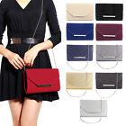 Womens Ladies Envelope Glitter Clutch Cross Body Bag Evening Handbag Prom Party