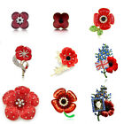 Red Poppy Symbolic Brooch Remembrance Day Coat Decoration
