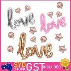 "40"" Large Love Foil Balloons Backdrop Script Handwriting Wedding Birthday Party"