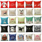 Happy New Year Christmas  Pillow Case Pillow Cover Sofa Cushion Cover Home Dec
