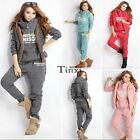 3pcs Women's Casual Sports Hoodies Suit Tracksuit Hooded Coat+Vest+Pants TXWD