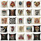 """18"""" Skull Crazy  Cotton Linen Pillow Cases Sofa Cushion Covers Pillow Covers"""