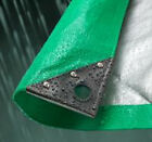 Various Sized Green Silver 140gsm Waterproof Medium Weight Tarp Tarpaulin Sheet
