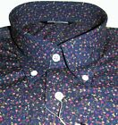 Shirt Multi Colour Navy Floral Men's Button Down Long Sleeve Cotton Relco S-3XL