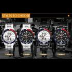 HOT CURREN Fashion Men Stainless Steel Date Military Sport Quartz Watch New