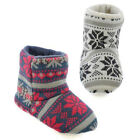 Slumberzzz Boy's Fairisle Snowflake Knitted Bootie Slippers