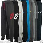 Nike Mens AW77 Cuffed Fleece Drawcord Joggers Track Sweat Jog Pants Black Grey