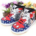 Disney Mickey Mouse Winter Warm Star Light Up Kids Midtop Shoes