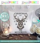 """16""""X16""""PERSONALISED GIFT CUSHION CHRISTMAS AT THE DEER MR&MRS ANNIVERSARY UNIQUE"""