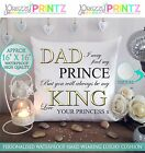 "16""X 16"" PERSONALISED GIFT CUSHION DAD FATHERS DAY CHRISTMAS WEDDING PRESENT NEW"