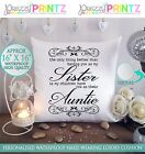 "16""X16"" PERSONALISED GIFT CUSHION AUNTIE SISTER CHRISTMAS MOTHERS DAY BIRTHDAY"