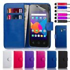 Book Wallet PU Leather Case Cover For Alcatel Phones + Screen Protector & Stylus