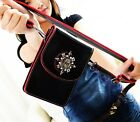 B041 Ladies Skull Bling Mobile Phone Card Cash Simulated Leather Shoulder Bag