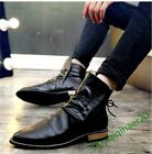 Ankle Boots Lace Up Retro British Style New Fashion Men's Casual Shoes Size US