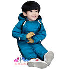 80CM-110CM Baby Kids Boys Girls Winter Down Jacket Coat Swaddle Overall Jumpsuit