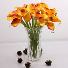 Artificial Silk Flowers Bouquet Calla Lilies Lily Seeds Bulbs Valentine Day Gift