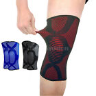A Pair Elastic Knee Pad Wrap Support Brace Arthritis Injury Sleeve Protector