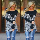 Fashion Women Print Shirt Summer Loose Casual Tops Long Sleeve Blouse Cotton Hot