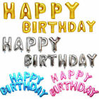 "16"" HAPPY BIRTHDAY Foil Balloon Mylar Letter Number Birthday Party Supplies lot"