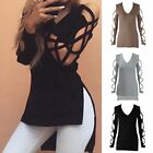 Fashion Women's Casual Loose Tops Long Sleeve T-Shirt Summer Blouse Cotton