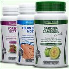 GARCINIA CAMBOGIA + FORSKOLIN + COLON CLEANSE DETOX Capsules Weight Loss Pills