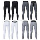 Charm Men Running Compression Pants 3/4 Pant Gym Workout Layers Football Tights