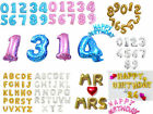 "16"" 42""Huge NUMBERS Foil Balloon Letter Happy Birthday Party Favors Supplies lot"
