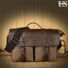 Men Business Leather Handbag Vintage Briefcase Laptop Messenger Bag Shoulder Bag