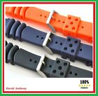 18MM to 22MM DIVERS RUBBER WATCH STRAP. MADE FOR SEIKO.CURVED VENT Z18, Z20, Z22