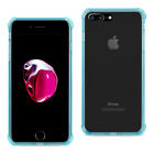 Apple iPhone 7 Plus Case -Clear Shock Absorption Bumper TPU Cover Blue/Gold/Pink