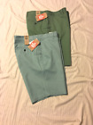 DOCKERS: Men Flat Front, Trouser Style Casual Shorts: Blue/40W or Green/42W