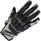 SPADA MX AIR MOTORCYCLE SUMMER GLOVE SILVER/BLACK TEXTILE & LEATHER
