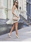 NWT ZARA NUDE LEATHER HIGH HEEL COURT SHOES REF. 6210/001 size US8 EUR39 for sale  Huntington