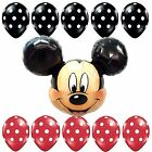 10Ladybug Polka Mickey Mouse Foil Balloon Shower Birthday Party Supplies lot USA