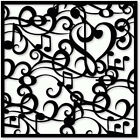 "Musical Notes Background 190mm Mylar 6"", 8"", 12"" Stencil high quality****NEW****"