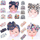 Newborn Infant Toddler Girls Baby Stripe Bowknot Beanie Hat Comfys Hospital Caps
