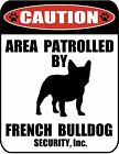 """PCSCP """"Caution Area Patrolled by (Pick Your Dog Breed)"""" Laminated Dog Sign"""