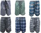 Mens Casual Lightweight Woven Check Lounge PJ Shorts S M L XL XXL