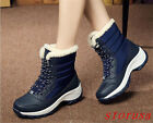 Women Lady Fur Lining Snow Boots waterproot Winter Warm Casual Boots Shoes Size