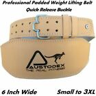 """Weight lifting bodybuilding back support weightlifting Leather Belt 6"""""""