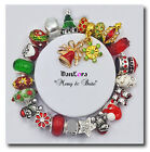 """DanLora Charm Bracelet """"Merry & Bright"""" Holiday Gift Red/Gold-As Shown In Photos"""
