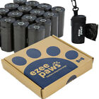 Dog Waste Poo Bags Rolls with Waste Bag Holder and Dispenser by Ezee Paws