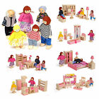 Kyпить Wooden Furniture Dolls House Family Miniature 6 Room Set Dolls For Kids Children на еВаy.соm