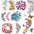 12pcs 3d Butterfly Wall Stickers Removable Home Room Wall Decal Diy Wall Decor