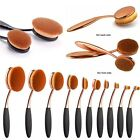 10 Pcs Gold Oval Toothbrush Makeup Foundation Brush Set Deluxe style Brushes Tnk