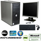 windows desktop monitor - CLEARANCE!! Fast Dell Desktop Tower Computer PC Core 2 Duo WINDOWS 10 +LCD+KB+MS