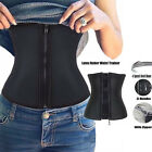 Corset Body Shaper Latex Rubber Waist Trainer Underbust Zipper Cincher Belt Q56p
