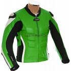 RTX Akira Green Leather Motorcycle Jacket - All Sizes