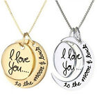Vogue Necklace I Love You To The Moon And Back Pendants Necklace Jewelry LACA