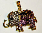 VARIETY OF BRASS & SILVER TONE ELEPHANTLONG PENDANT NECKLACES BUY2 GET 1 FREE